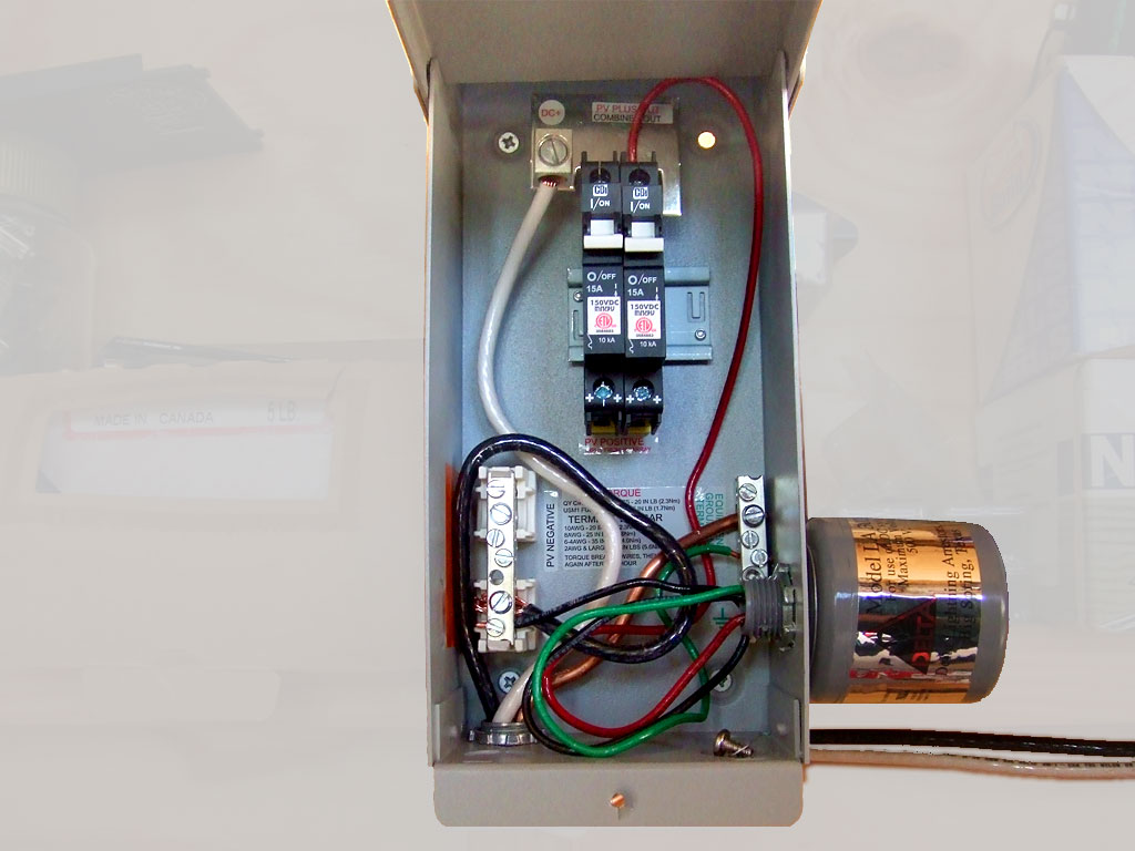 the midnite solar mnpv3 combiner box with lightning arrestor